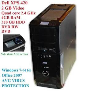 Dell XPS 420/HDMI-2GB Video-Quad 2.4 GHz/4GB RAM/320GB HDD Colyton Penrith Area Preview