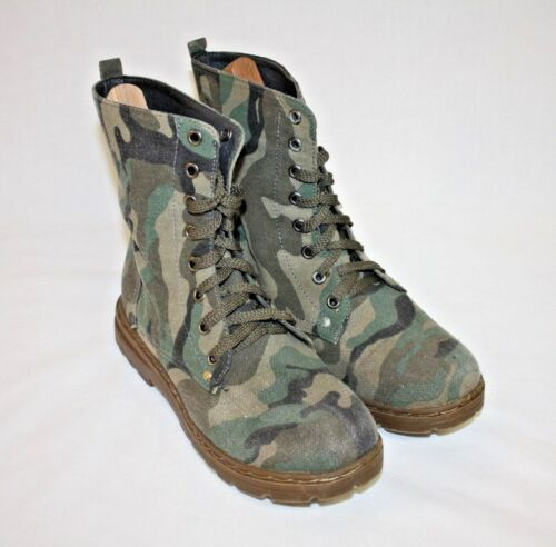 Camo Camoflage Ankle Boots Carrini Womens Ladies Girls Teens Green  Sz 7 M