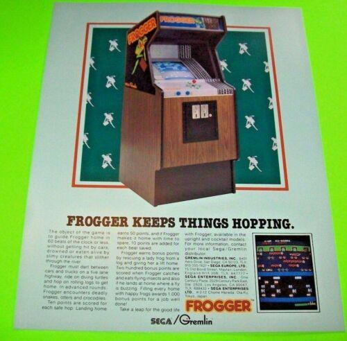 Gremlin Sega Frogger Arcade FLYER Original 1981 Video Game NOS Paper Art Sheet