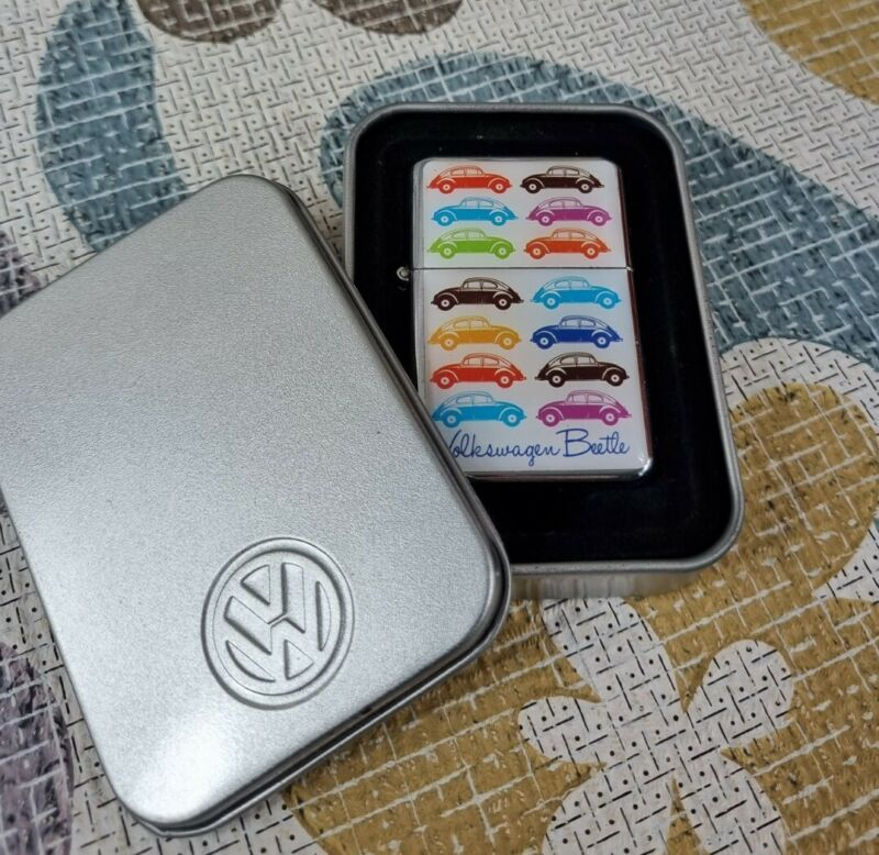 Official refill Volkswagen VW  BEETLE Windproof lighters with tin case