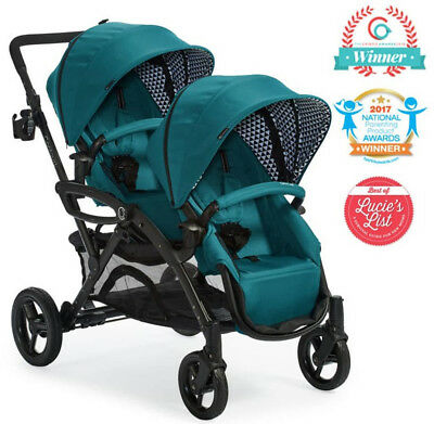 Contours Options Elite Twin Tandem Double Baby Stroller Aruba Teal NEW 2018