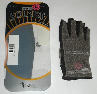 - Lot of 3 HJ Glove Women's Brown Leopard Solaire Half Length Golf Glove, M, Right