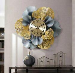 Metal Flower Wall Clock