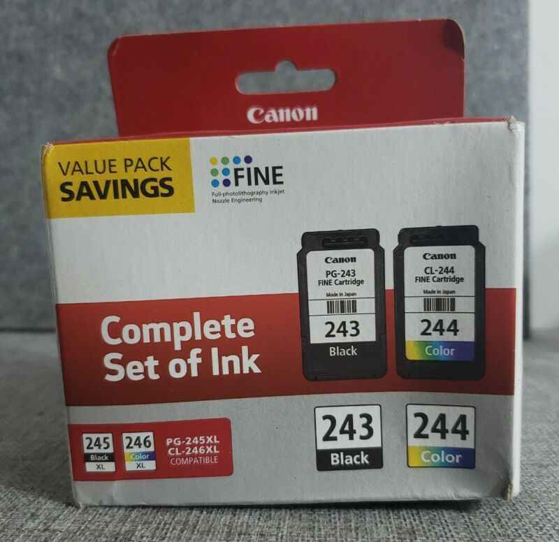 Canon PG-243 / 244 Ink Cartridge Value Pack