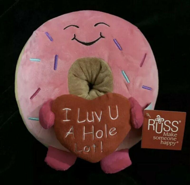 "🍩 Russ Donut Plush ""I Luv U A Hole Lot!"" Valentines Day 2021💝"