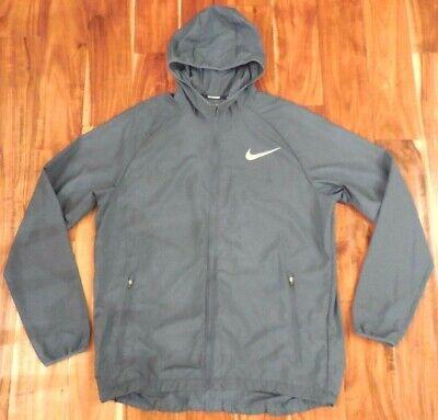 Nike Running Men's Dri-Fit Essentials Blue Running Jacket 856892-427 size L