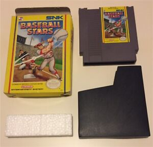 NES SNK Baseball Stars with Box Game Sleeve and styrofoam piece