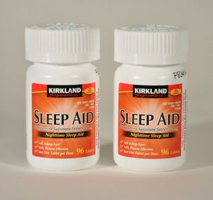192-Kirkland-Sleep-Aid-Doxylamine-Succinate-25mg-Tablets-Sleeping-Pills-2bottles