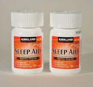 192-Kirkland-Sleep-Aid-Doxylamine-Succinate-25mg-Tablets-Sleeping-Pills-2bottles