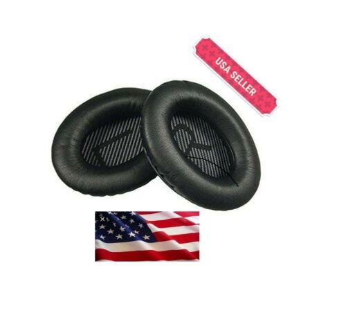 BLACK Ear Cushion Kit Bose QuietComfort 35 QC35 Headphones Pads Cups