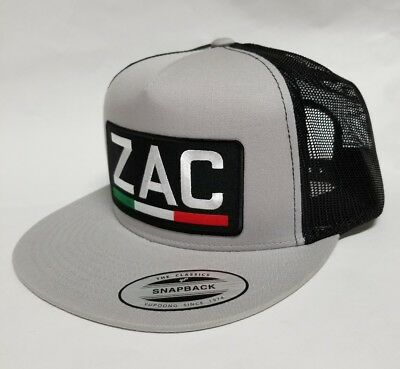 ZACATECAS MEXICO HAT MESH TRUCKER SILVER BLACK FLAT BUILD NEW 4c35e1e5415c