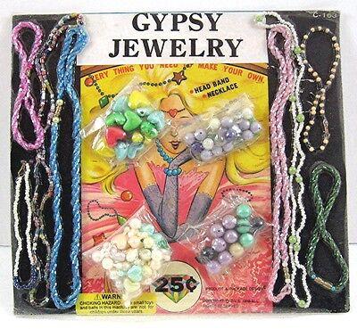Gypsy Jewelry Headbands bracelets Necklace Gumball Vending Machine Disp Card #39