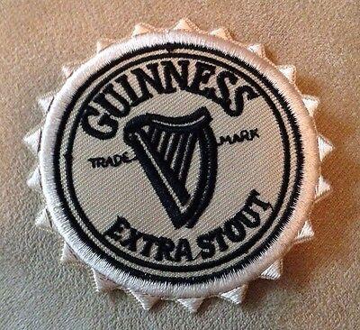 GUINNESS Extra Irish Dry Stout Beer Bottle Cap Iron-on Logo Badge/PATCH! Ireland