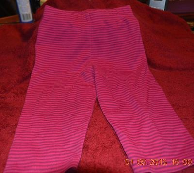 Infant Girl Size 12 Months Legging Pants Simply Basic Striped Pink And Purple - Pink And Purple Striped Leggings