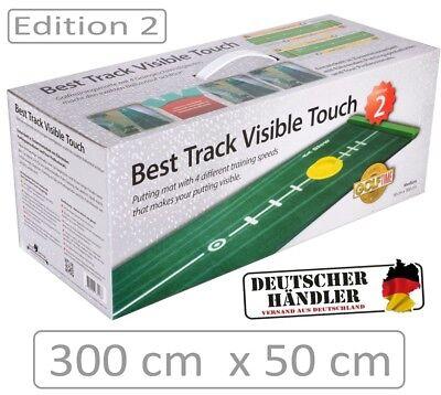 BEST TRACK Puttingmatte - EDITION 2 - mit Silikonhole und Mattenwischer - NEW