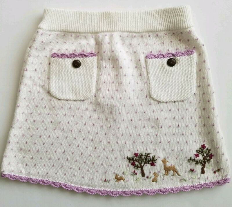 Janie and Jack Girls Sweater Skirt Embroidered Snowflakes Size 5T NWT