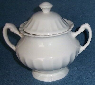 J & G Meakin Classic White Sugar Bowl with Lid