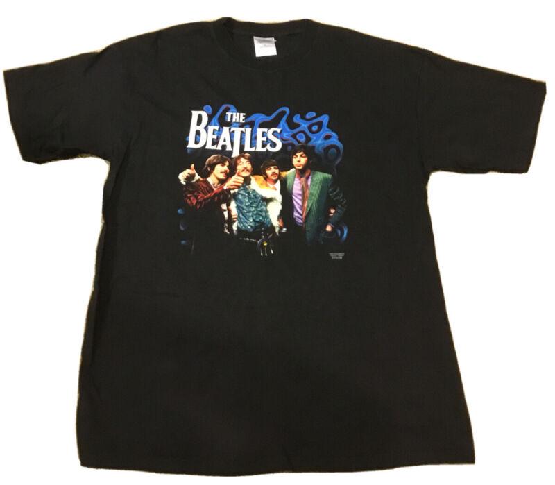 The BEATLES 2001 Men's XL Black T-shirt Apple Corps John Lennon Harrison Starr