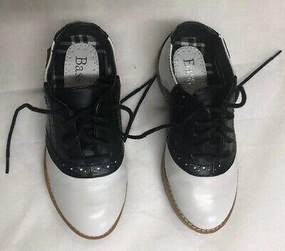 Bass Kids Lace Up  School Type Saddle Shoes Black / White Size 11 Child - Saddle Shoes Kids