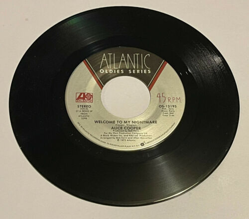 Alice Cooper 45 - Welcome To My Nightmare, NM, Atlantic Oldies - $6.00