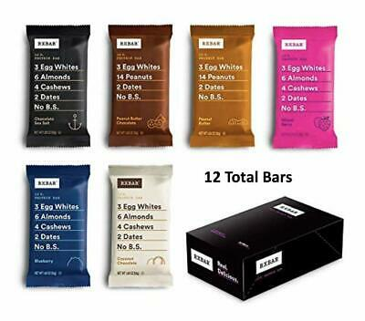 RXBAR, Best Seller Variety Pack, Protein Bar, 1.83 Ounce (Pack of 12) BB (Best Protein Meal Replacement Bars)