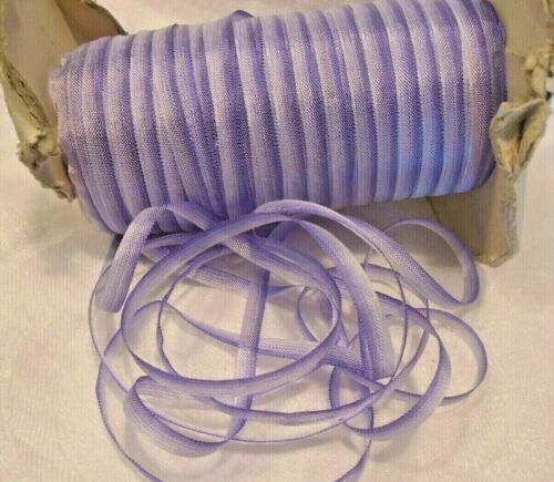 "VINTAGE 1/4"" WIDE LAVENDER OMBRE RAYON RIBBON - DOLL SIZE ETC.   NOS"