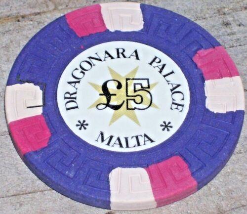 5LB GAMING CHIP FROM THE DRAGONARA PALACE CASINO, MALTA