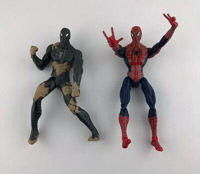 "Marvel Spider-Man Lot of 2 Action Figures 5"" 2006 Hasbro Sand Battle"