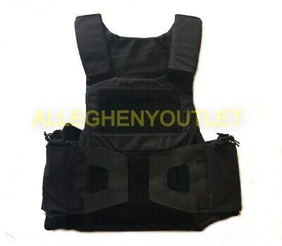 Tactical Law Enforcement Style Plate Carrier Vest Black Sizes Sm-med-large Exc