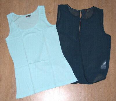 Party Bluse Set (w.NEU! Street One-Set: offene Schiffon-Bluse mit einem Top auch festlich! Gr. 36)