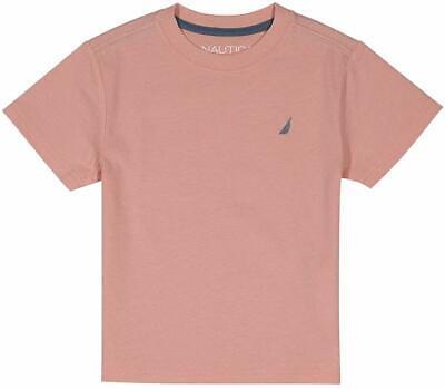 Nautica Boys' Short Sleeve Solid Crew-Neck T-Shirt, Coast Peach, XL