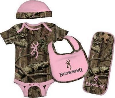 Browning Baby Camo/Pink Set