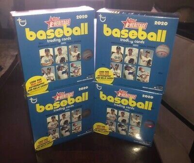 LOT OF (2) 2020 Topps Heritage Baseball Chrome Mega Box Walmart Retail Exclusive