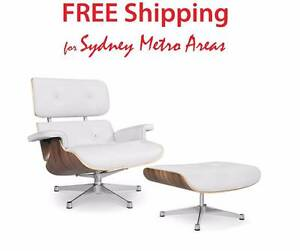 Clearance SALE - Eames Style Lounge Set - Italian Leather Zetland Inner Sydney Preview