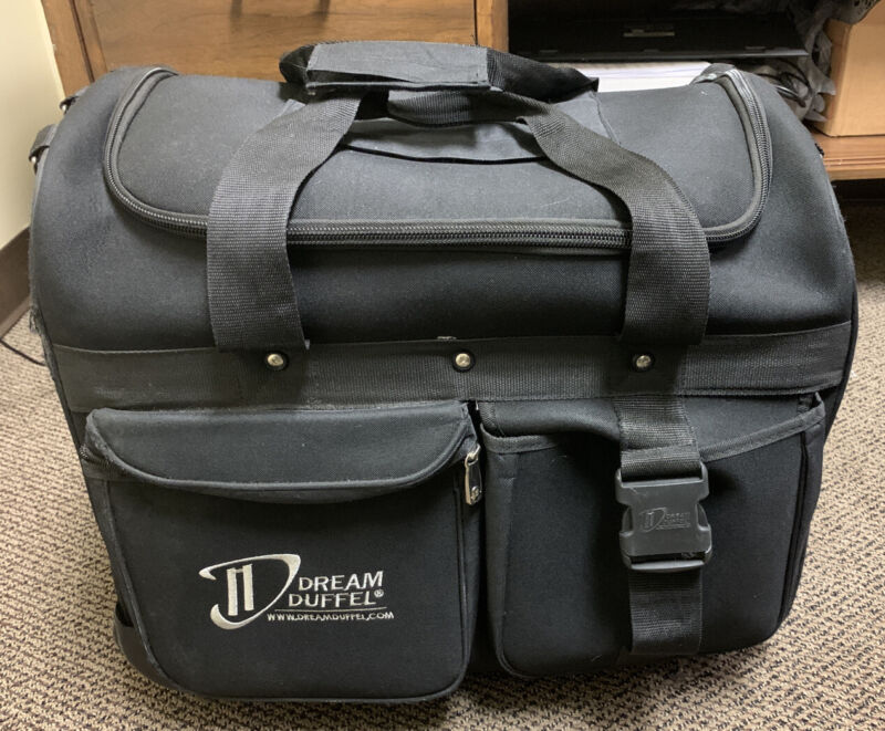 DREAM DUFFEL - SMALL BLACK ROLLING COMPETITION DANCE BAG LUGGAGE USED GOOD COND