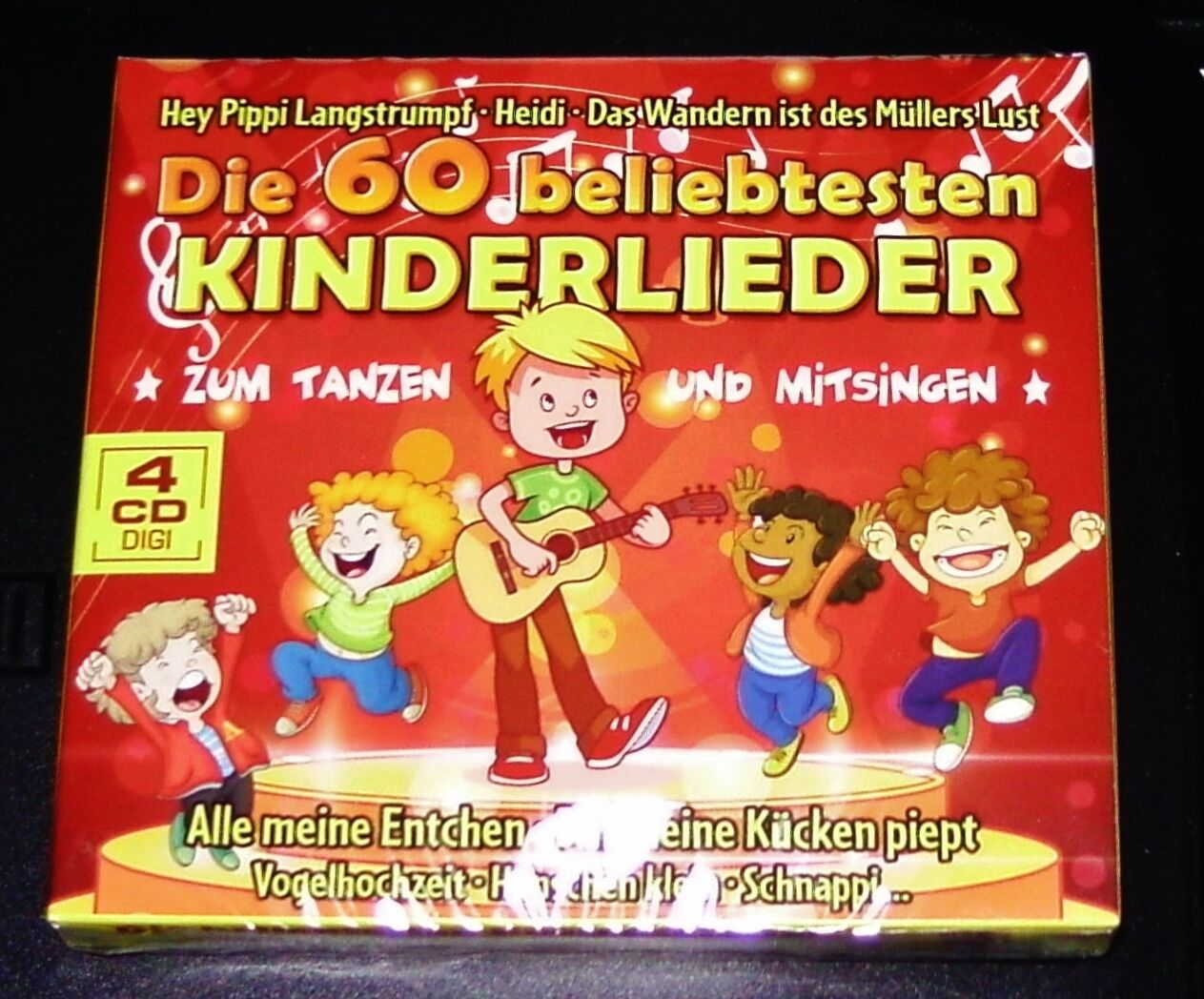 DIE 60 BELIEBTESTEN KINDERLIEDER ZUM TANZEN UND SINGEN 4 CD DIGIPAK EDITION NEU