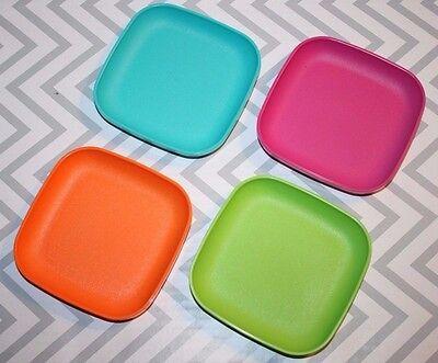 Tupperware  Mini Toy Kids Square Plates Set  New!!!