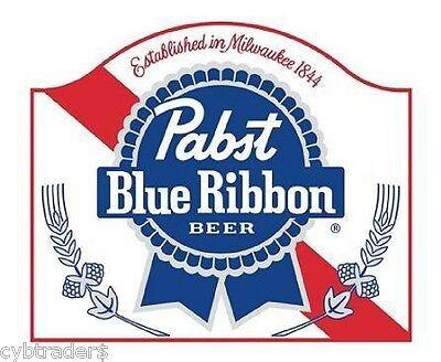 Pabst Blue Ribbon Beer Logo Refrigerator / Tool Box Magnet