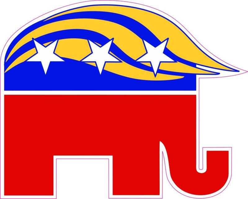TRUMP GOP Elephant Republican Donald Trump NEW Vinyl Decal Sticker Funny