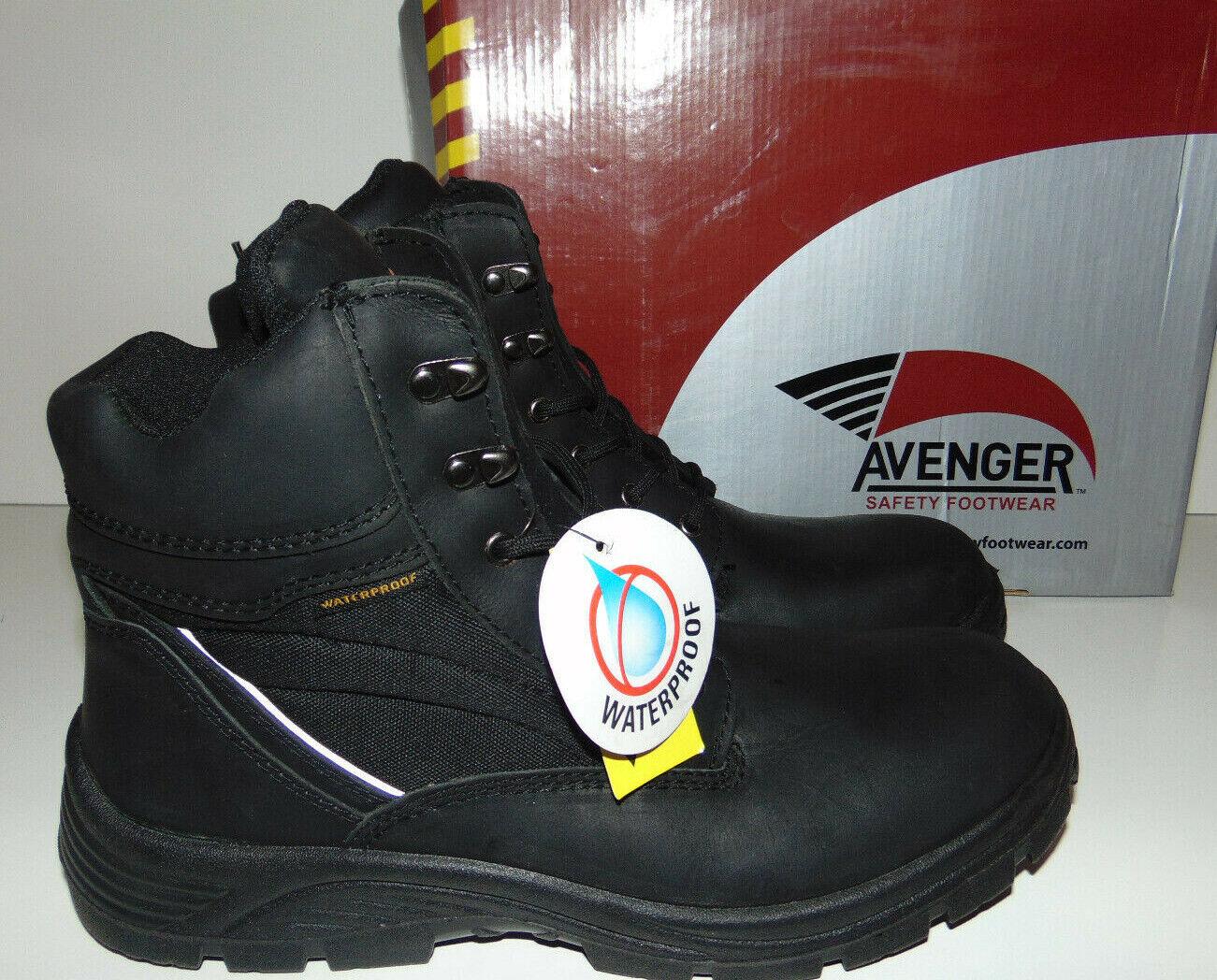Avenger Men's Waterproof Lace-Up EH Work Boot Sz 11.5 W WIDE