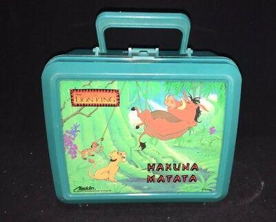 Lion King lunch box with Thermus Hakuna Matate Aladdin Plastic Original