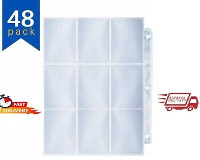 Baseball Card Sleeve for 3 Ring Binder,9-Pocket Trading Card Sleeves. - 40pack