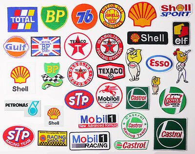 "£1.20 for ANY MOTORSPORT PATCH ""PETROL THEME"" & Just 80p Max Postage - UK SELLER"