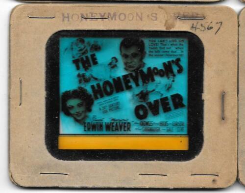 The Honeymoon's Over 1939 Vintage Glass Slide Stuart Erwin Marjorie Weaver
