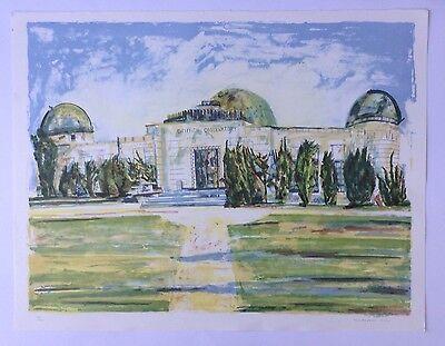 """CHRIS CORR - """"Griffith Park Observatory, LA"""" Limited Ed Lithograph Curwen Studio"""