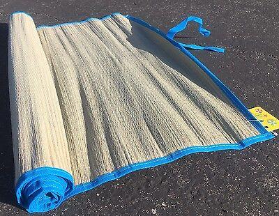 straw beach mat Yoga colored trim home floor  rug camping awning - Beach Straw Mat