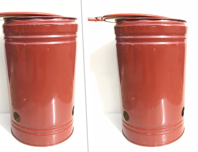 2 X Brenntone Feuerschale Feuertonne Fass mit Belüftungslöcher  TONNE  Fässer