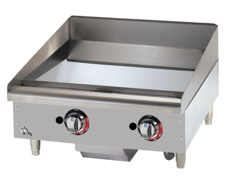 Star 624tchsf Star-max 24in Chrome Thermostatic Gas Griddle