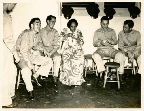 1940 Hickam Field Hawaii Photo #5, Shows of Shows, smiling, dancing break