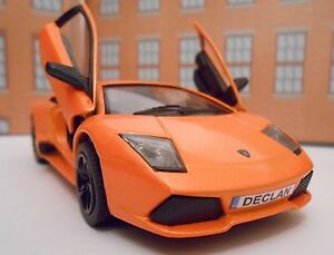 LAMBORGHINI PERSONALISED PLATES Toy Car MODEL boy girl dad BIRTHDAY GIFT NEW!